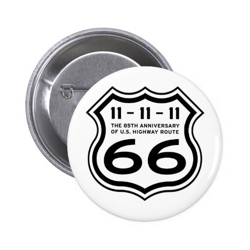Route 66 85th Anniversary Logo Items Pins