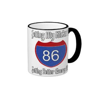 Route 66 86th Birthday Ringer Coffee Mug