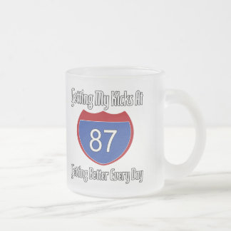 Route 66 87th Birthday 10 Oz Frosted Glass Coffee Mug