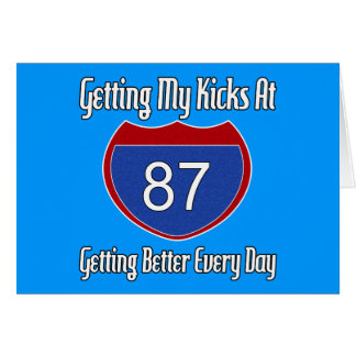 Route 66 87th Birthday Greeting Card