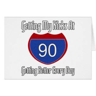 Route 66 90th Birthday Greeting Card
