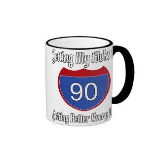 Route 66 90th Birthday Ringer Coffee Mug