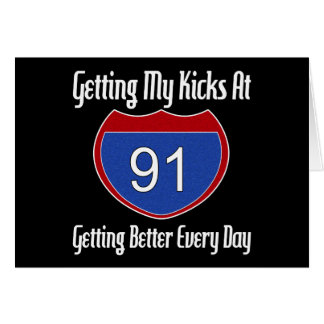 Route 66 91st Birthday Greeting Card