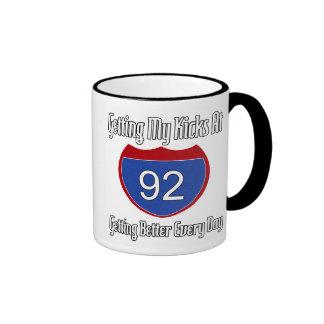 Route 66 92nd Birthday Ringer Coffee Mug