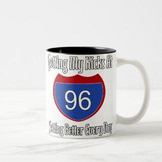 Route 66 96th Birthday Two-Tone Coffee Mug
