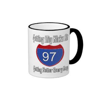 Route 66 97th Birthday Ringer Coffee Mug