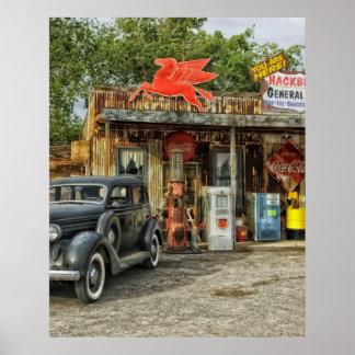 Route 66 Arizona rustic retro store Poster