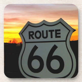 Route 66 at Sunset Beverage Coasters