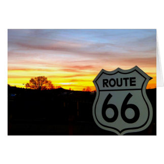 Route 66 at Sunset Card