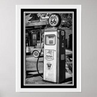 Route 66 B&W Gas Pump Photo 12 x 16 Poster