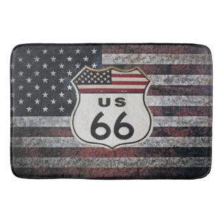 Route 66 bathroom mat