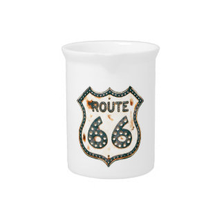 Route 66 beverage pitcher