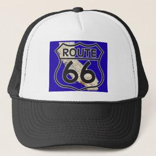 bc6626e6ac4db Route 66 Blue California Trucker Hat