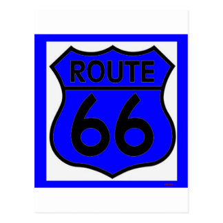 Route 66 Blue Customize it! Postcard