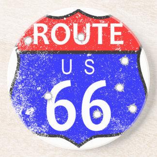 Route 66 Bullet Holes Coaster
