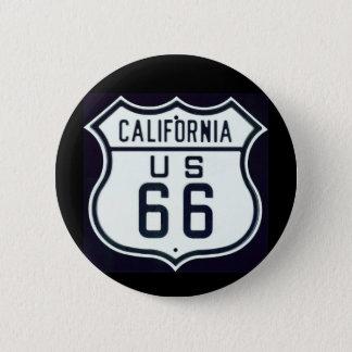 Route 66 California 2 Inch Round Button