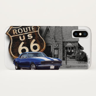 Route 66 Camaro at Gas Station iPhone X Case