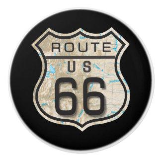 Route 66 Ceramic Knob