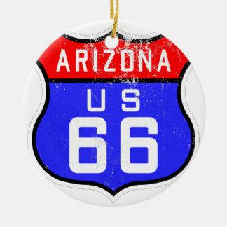Route 66 ceramic ornament