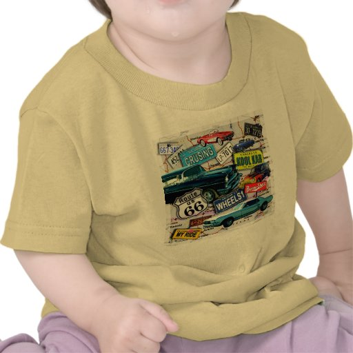 Route 66 - Classic Cars - BABY TEES