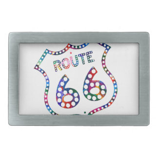Route 66 color splash! belt buckles