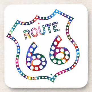 Route 66 color splash! beverage coaster