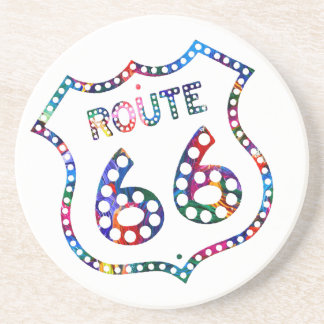 Route 66 color splash! coaster