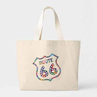 Route 66 color splash! large tote bag