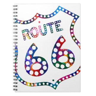 Route 66 color splash! notebook