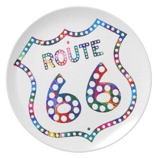 Route 66 color splash! plate