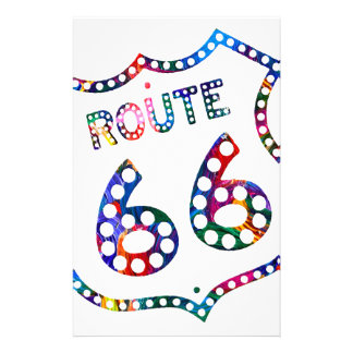 Route 66 color splash! stationery