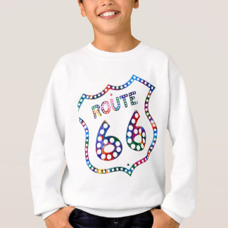Route 66 color splash! sweatshirt
