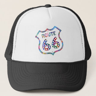 Route 66 color splash! trucker hat