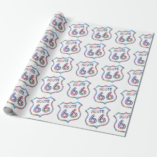 Route 66 color splash! wrapping paper