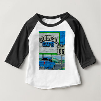Route 66 Corner Cafe Wall Baby T-Shirt