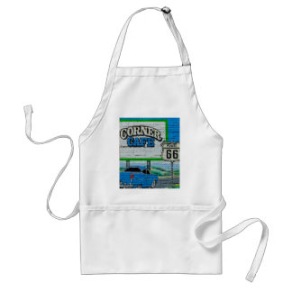 Route 66 Corner Cafe Wall Standard Apron