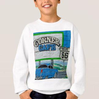 Route 66 Corner Cafe Wall Sweatshirt