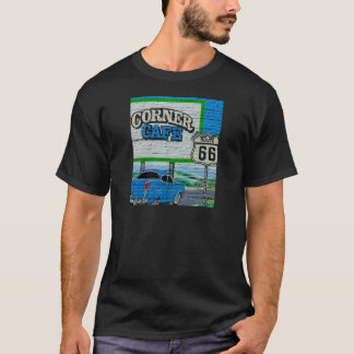 Route 66 Corner Cafe Wall T-Shirt