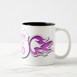 Route 66 Cup Pink Flames
