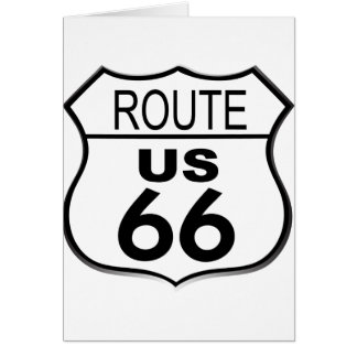 Route 66 {customize your background) card