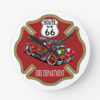 Route 66 Fire Department Clock