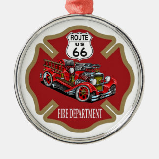 Route 66 Fire Department Ornament