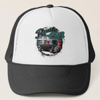 Route 66 Garage Trucker Hat