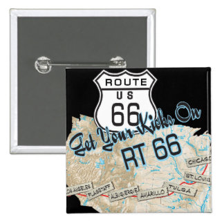 route 66 gifts 2 inch square button