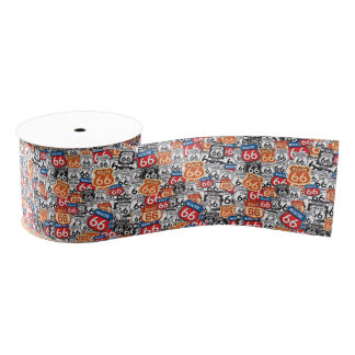 Route 66 grosgrain ribbon