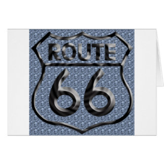 Route 66 hammered metal card