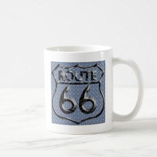 Route 66 hammered metal coffee mug