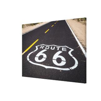 Route 66 highway marker, Arizona Canvas Print