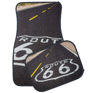 Route 66 highway marker, Arizona Car Mat