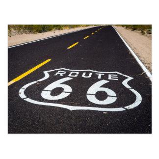 Route 66 highway marker, Arizona Postcard